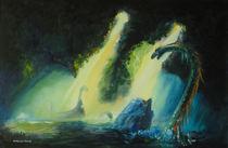 Viking and serpent von Mario Donk