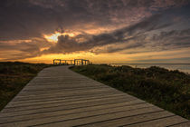 Sonnenuntergang am Morsum Kliff von Tobias Thiele