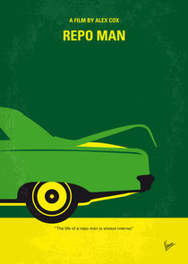 No478 My Repo Man minimal movie poster von chungkong
