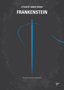 No483 My Frankenstein minimal movie poster von chungkong