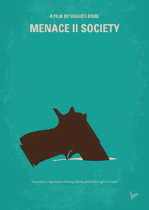 No484 My Menace II Society minimal movie poster by chungkong