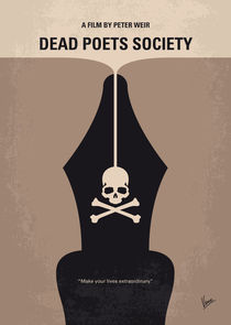 No486 My Dead Poets Society minimal movie poster by chungkong