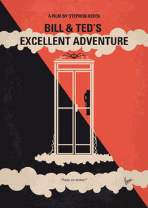 No490 My Bill and Teds Excellent Adventure minimal movie poster by chungkong