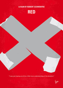 No495 My RED minimal movie poster by chungkong