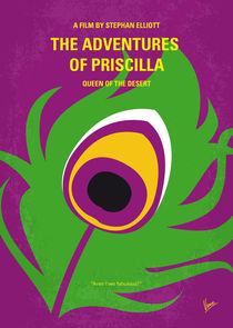No498 My Priscilla Queen of the Desert minimal movie poster von chungkong
