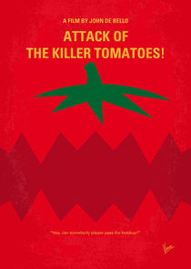 No499 My Attack of the Killer Tomatoes minimal movie poster by chungkong