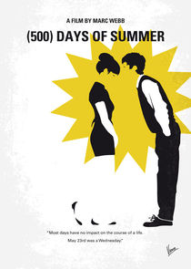 No500 My 500 Days Of Summer minimal movie poster by chungkong