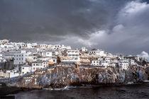 Hügelstadt in infrarot von flylens