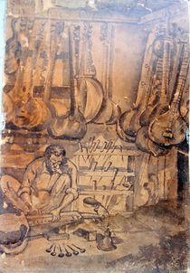 Artist-making-music-instrument-canvas