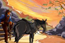 Resting Cowboy by Bedros Awak