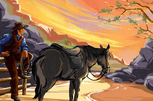 Resting-cowboy