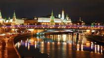 Evening Moscow, Russia. Kremlin Embankment by Yuri Hope