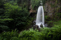 Melincourt falls near Resolven south Wales by Leighton Collins