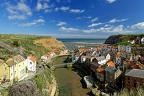 The Seaside Village of Staithes by Rod Johnson