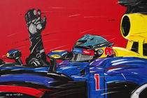 F1 Sebastian Vettel Red Bull Race by Minocom Art Gallery