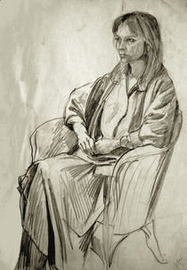 Woman in Chair by Peter Madren