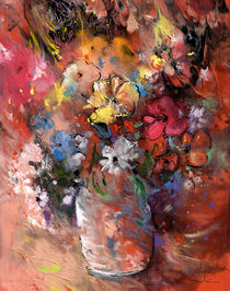 Wild Flowers Bouquet in A Terracota Vase von Miki de Goodaboom