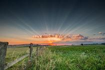 Sonnenstrahlenuntergang von photoart-hartmann