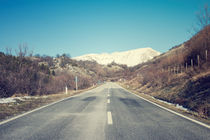 Road with mountain by Salvatore Russolillo