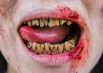 Zombie Mund und Zähne - mit Zunge von Matthias Hauser