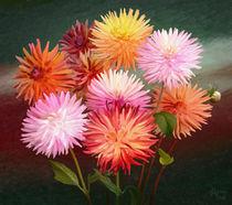 Dahlias Flowers von Ilgvars Rauda