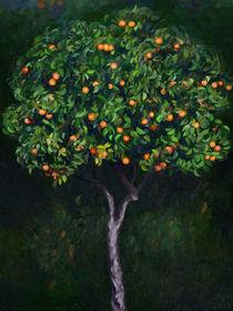 Evening with Mandarin Tree by Ilgvars Rauda