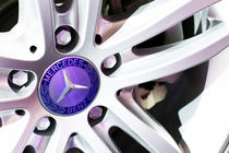 Mercedes-Benz Logo On The Car Wheel by Mauricio Santana