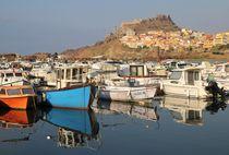 Im Hafen von Castelsardo von Bruno Schmidiger