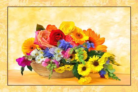 Blumenkorb-gemischt-rahmen