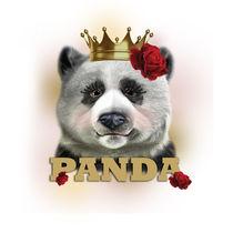 PANDA BEAR GIRLS CUTE by Fernanda Garcia