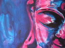 Buddha Cyan-Magenta von Michael Ladenthin