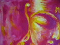 Buddha Magenta-Yellow von Michael Ladenthin