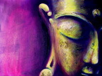 Buddha Magenta by Michael Ladenthin