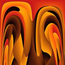 Orange color abstract von Gaspar Avila