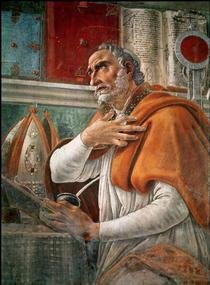 St. Augustinus in seiner Zelle by Sandro Botticelli