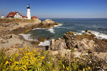 Portland Head Lighthouse, Maine, USA on a sunny day by Sara Winter