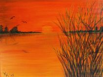 Sonnenuntergang am See von Kathrin Körner