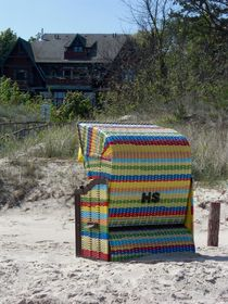 Strandkorb/ Beach-Chair colorful von detiart
