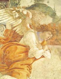 Die Verkündigung, Detail der Erzengel Gabriel, von San Martino d von Sandro Botticelli