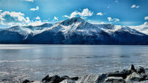 Snow capped Mountains von Amber D Hathaway Photography