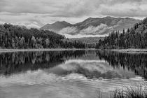 B/W Clouds and Mountains by Amber D Hathaway Photography