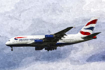 British Airways Airbus A380 Art von David Pyatt