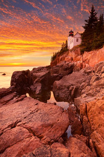 Bass Harbor Head Lighthouse, Acadia NP, Maine, USA at sunset von Sara Winter
