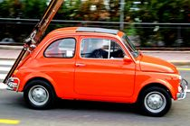 Old Orange Fiat von Philipp Tillmann