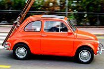 Old Orange Fiat by Philipp Tillmann