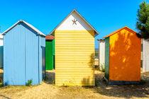 Beach cabines on ile d oleron, France by 7horses