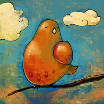 Orange Bird von Natalie Gornicki