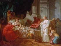 Antiochus und Stratonice by Jacques Louis David