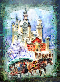 Neuschwanstein Castle Authentic Madness von Miki de Goodaboom