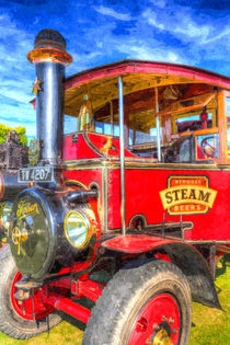 Foden Steam Lorry Art by David Pyatt